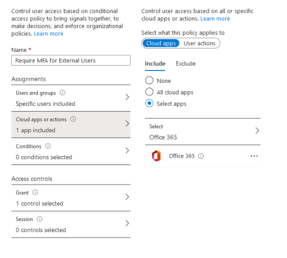 Conditional Access Policies Require MFA For Guests In o365 Tenant_3