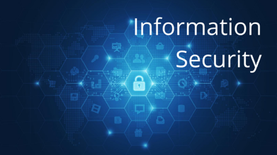 Information Security - Blue Hexagonal IT Icons